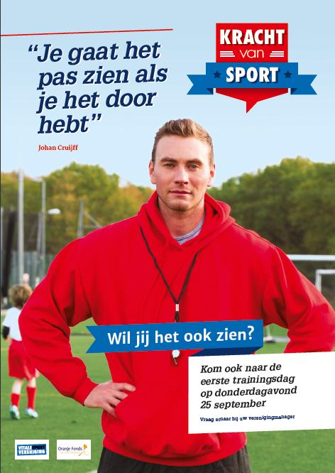 Kracht van sport poster