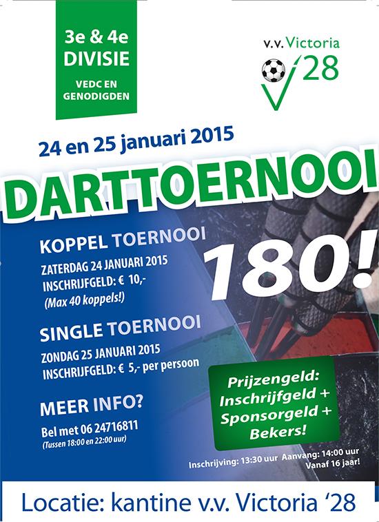 A3 Poster Darttoernooi